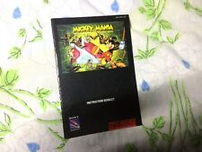 Snes Mickey Mania Manual Only
