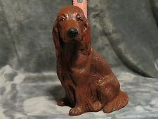 IRISH SETTER PLASTER DOG STATUE HAND CAST AND PAINTED BY T.C. SCHOCH
