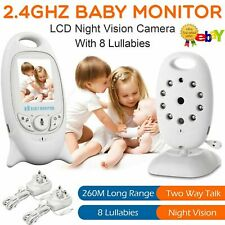 Wireless Baby Monitor Camera 2.4GHz HD Video Digital Cam IR Night Vision UK Plug