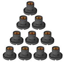 10pcs Flat Light Bulbs Lamp Holder Base Screw Converter Fittings Energy Saving