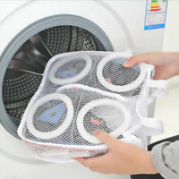 Mesh Net Pouch Washing Hanging Bag Shoes Cleaning Care Case Shoe Protector VV