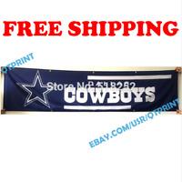 Dallas Cowboys Logo Banner Flag 2x8 ft 2020 NFL Fan Club Wall Home Decor NEW