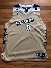 Gilbert Arenas Washington Wizards Gold Adidas Swingman Alt Jersey Sz Youth XL
