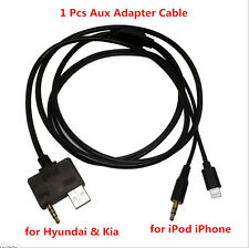 1PC Hyundai Kia AUX Adapter Cable USB Charge For iPod iPhone 5 5s 6 6S Plus