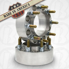 """2pc USA MADE Rear 8 X 6.5"""" DODGE HUB CENTRIC Wheel Spacer 2.5"""" Thick Steel Ring"""