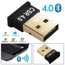 USB Mini Bluetooth V4.0 Dongle Wireless Audio Receiver Adapter for PC Laptop UK