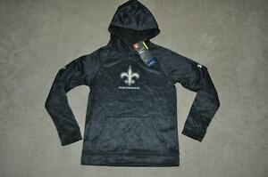 Under Armour NFL Combine Boys New Orleans Saints Fleece Hoddie 1288950 009 NWT