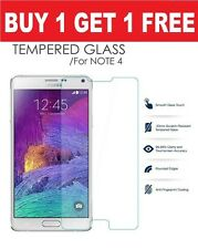 100% Genuine Tempered Glass Film Screen Protector Samsung Galaxy Note 4