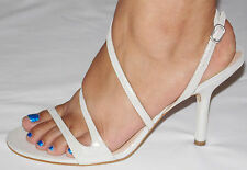 NWOB Women's Via Spiga Strappy Heels Size 9.5 M Leather Designed In Italy Ivory