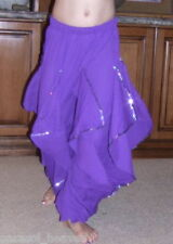 PETITE ADULT PURPLE ENDLESS WAVE HAREM PANTS CHIFFON SMALL ADULT. INDIA