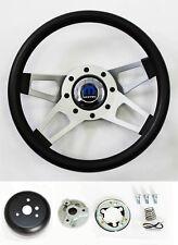 "70-76 Dodge Dart Charger Demon Black 4 Spoke Steering Wheel 13 1/2"""