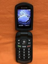 SPRINT, KYOCERA DURA XTP E4281 FLIP CELL PHONE PTT BLUETOOTH BLACK SCORCHING