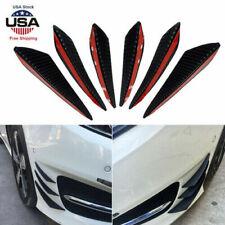 6pcs Carbon Fiber Auto Front Bumper Fins Spoiler Canards Refit Car Accessories