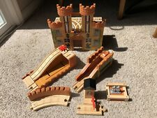 Thomas & Friends Wooden Train King Of The Railway CASTLE Set Lot Incomplete