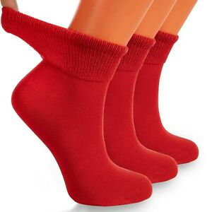 Diabetic Ankle Socks with Non-Binding Top and Seamless Toe 3 Pairs