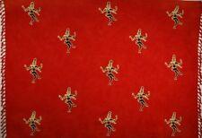 Batik Sarong, Rayon - Shiva on Light Red