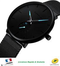 Montre Luxe Élégante Ultra Plate Extra Mince Bracelet Acier Maille Milanaise fr