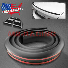 Universal 5FT Matte Black Rear Roof Trunk Spoiler Wing Tail Lip Look Trim Rubber