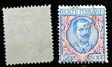 1901  Regno D' Italia  5  lire  Floreale   Usato