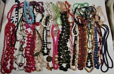 Lot Of 51 Costume Necklaces Beaded And Other Lot #1