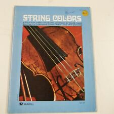full score STRING COLORS folio for string orchestra arr Bruce CHASE