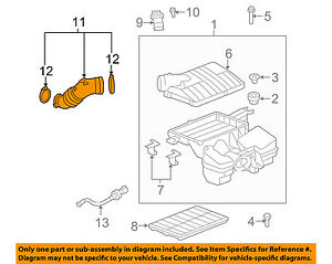 GM OEM Air Cleaner-to Intake Tube Duct Hose 25798986