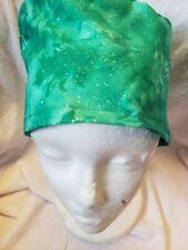 Emerald glitter. Handmade Surgical Scrub Caps
