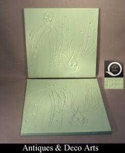 """Yves Lahon: """"Met Kunst aan Tafel"""" 2 Porseleinen 3D Platen - Borden"""
