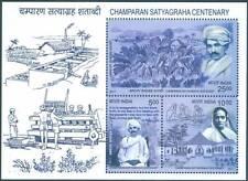 2017 Champaran Satyagraha Centenary MINIATURE SHEET, MNH 5 #