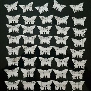 Paper Butterflies from Music note Sheets - card making toppings Junk Journals