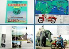 Prospekt Tropentest Simson Star SR4-2 Mokicks Ostasien Tropics Trial Brochure