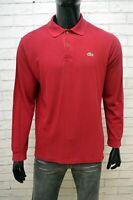 Polo Uomo Lacoste Taglia Size 4 Maglia Camicia Manica Lunga Shirt Man Casual