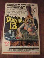 Dementia 13     - Original  40 x 60 Movie Poster-  Coppola