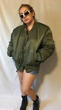 Men's Bomber JACKET Military Air Force Reversible KNOX ARMORY LARGE NEW $225