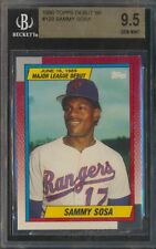 1990 Topps M.L. Debut 1989 #120 Sammy Sosa Rookie RC BGS 9.5 Gem Mint PSA 10?