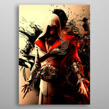 Assassins Creed Brotherhood Ezio Auditore DISPLATE METAL POSTER GAMER XL 35X25