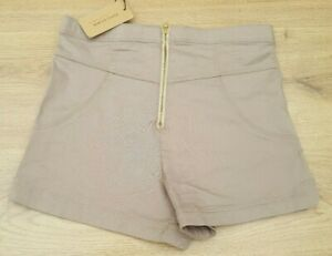WOMENS GIRLS BEIGE HOT PANT SHORTS BY RIVER ISLAND SIZE 10 BNWT