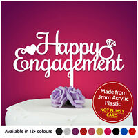 Happy Engagement Cake Topper Decoration Wedding Engaged Bridal Hen Party Gifts