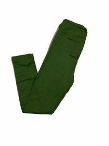 Tween Lularoe Leggings Solid Green NWT 567137