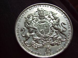 EXTREMELY RARE LARGE WHITE METAL MEDAL FOR EDWARD VII CORONATION 60mm VF Quality