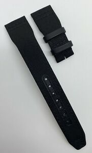Authentic New IWC 21mm x 18mm Black Textile Watch Strap Band E13058 OEM