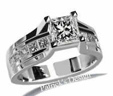 1.70CT PRINCESS CUT DIAMOND ENGAGEMENT WEDDING RING IN 14K WHITE GOLD PD3099