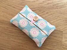 Handmade Packet Tissue Holder Made Using Clarke and Clarke Daisy Aqua Fabric