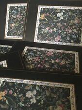 Beautiful Set of 6 Vintage Large Pimpernel Multi Colour Floral Place Mats