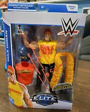 WWE WWF HULK HOGAN signed Elite Wrestling Figure With COA
