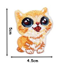 Cute Kitten High Detail Iron On Patch Badge Patches Motif Embroirdered 458