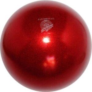RSG Ball WETTKAMPFBALL Gymnastikball PASTORELLI rot GLITTER high Vision FIG Neu