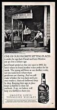 1990 JACK DANIELS Whiskey AD Sitting under original Daniels Lem Motlow Sign