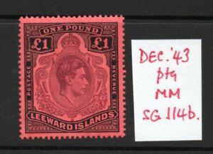 LEEWARD ISLANDS SG114b  £1 lightly hinged.