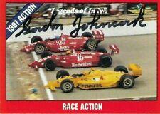 GORDON JOHNCOCK signed  1992 LEGENDS OF INDY #40 card INDY RACING